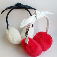 红色毛绒耳罩 毛绒玩具礼品定做 企业宣传礼品 定制