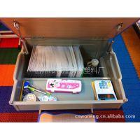 供应专利、大容量书柜式学生课桌椅、学校和家用两用