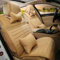 新款亚麻皮革汽车坐垫全包型通用座套汽车用品批发四季汽车j319