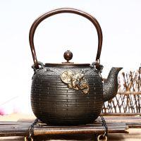 日本铁壶价格鎏金铸铁茶壶批高端礼品定制定做发招财金蟾龙秀堂