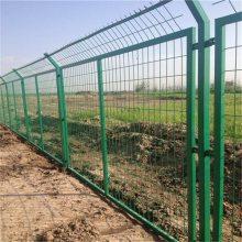 框架护栏网 浸塑网片 绿色养殖场区围网 生产厂家