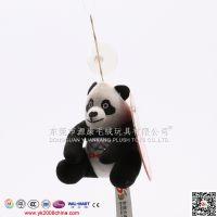 仿真熊猫毛公仔挂饰 熊猫毛绒钥匙扣 毛绒玩具吊饰 迪士尼认证