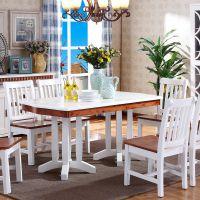 包邮成都宏友木实木餐桌 白色饭桌 创意长方形桌子 家用餐桌批发