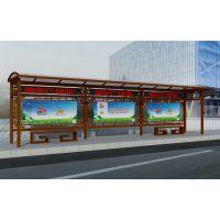 便民交通广告设施公交候车亭 公交站台灯箱产品 聚友制作品质保证