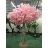 仿真樱花树 人造花树 假树 东莞森林厂家直销 玻璃钢材质仿真植物