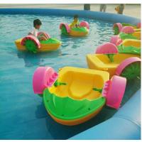 水上游艺设施单人手摇船厂家 热卖母子游乐船 手摇船玩具批发报价