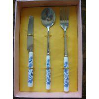 珠海酒店开业礼品, 珠海陶瓷餐具套装,不锈钢餐具组合