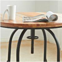 新款美式乡村 时尚创意设计铁艺实木桌面咖啡桌圆桌厂家直销