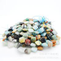工厂批发天然天河石手链 米珠形亚马逊 旺夫石媲美绿松石配件散珠
