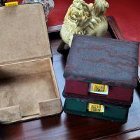 泽家 祥云布艺便签纸盒 中式复古翻盖型便条纸盒/座办公用品 带纸