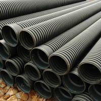 HDPE排污管双壁波纹管湖南常德厂家HDPE波纹管排污管道HDPE双壁波纹管量大价优