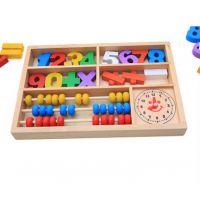 厂家直销批发木制玩具 木质数字学习盒 儿童智力早教学习用具