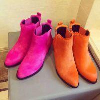 厂家批发定做时装真皮高跟女靴加工