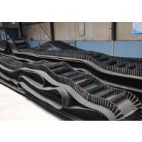 钢厂专用耐高温800度橡胶输送带 大倾角挡边输送带