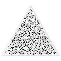 建威厂家冲孔三角形铝扣板天花吊顶的材料