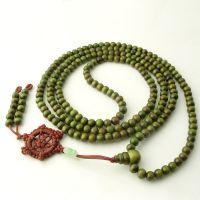 (洋洋水晶) 绿檀念珠佛珠手链 6mm216檀香佛珠手链
