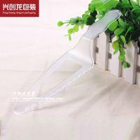 深圳厂家直销 磨砂花边一次性透明刀 环保透明塑料甜品蛋糕刀