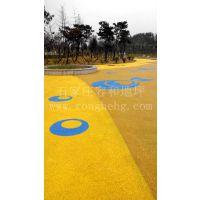 胶粘石透水路面施工 彩色透水路面材料销售