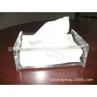 韩国家居用品创意收纳透明长方形水晶亚克力纸巾盒 纸巾抽 抽纸盒