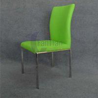 西餐厅家具五金配件工厂批发高档不锈钢椅架们皮餐椅 简约餐椅