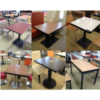 酒店餐饮家具订做、卡座沙发、快餐桌椅、员工食堂餐桌椅、大型快餐连锁桌椅直销-皮制简约-天津绿鼎家具