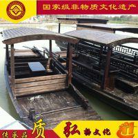 广西桂林木船厂家定制景观木船欧式手划船 观光游船 手工制作婚纱拍摄道具船 客船