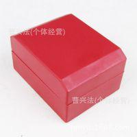 厂家直销 红色方形手表包装盒子 绒布小枕芯表盒纸盒 高档展示盒