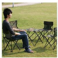 供应启裕迷彩牛津布HL-052 便携式折叠桌椅||迷彩五件套适合户外休闲,露营,探险,登山等活动,