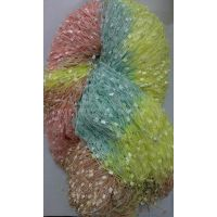 100%Polyester Section Dyed Toothbrush Yarn Fancy yarn space dyed