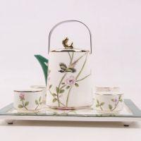 2016新品骨瓷茶具 唐山手绘骨瓷茶具6件套 茶壶茶杯茶托套装