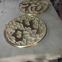 深圳宏而达 公司LOGO 雕刻 制作 工艺品加工 不锈钢雕刻 喷绘彩绘 可定做