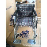 直销老年人轮椅带坐便椅刹车医用残疾人轮椅可折叠轮椅电动轮椅车
