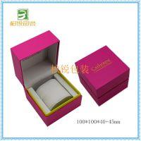 深圳高档手表包装盒 印刷纸盒 厂家直销新款手表盒 梅红色手表盒 欧米茄手表盒