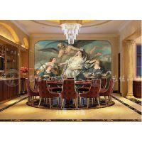 厂家直销ktv主题包厢壁画、客房酒店、餐厅背景墙、欧式风情主题大型壁画定制