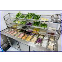 岳阳麻辣香锅店蔬菜展示柜,麻辣烫冻丸冷藏柜价格,直冷不锈钢冒菜柜
