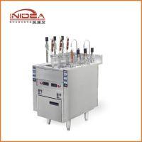 英迪尔 商用小型多功能立式节能六头自动升降煮面炉电热煮面机厂家