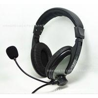 网吧高保真 游戏大耳机带麦话筒 影音耳机 音量可调节工厂批发