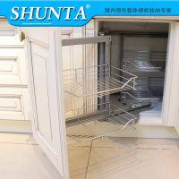 顺塔 不锈钢拉篮 厨房整体橱柜转角拉篮 地柜小怪物拉篮