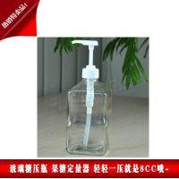 厂家促销 玻璃糖压瓶 果糖定量器 奶茶保温桶果汁专用瓶 糖压瓶