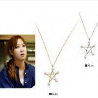 韩版来自星星的你千颂伊同款项链 五角星珍珠项链 ALQE20150317