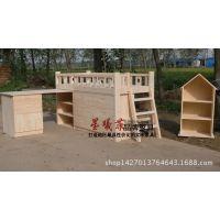 全实木松木儿童组合床高低子母床儿童套床书桌多功能组合床衣柜