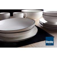 外贸新品陶瓷餐具英国名品极简纯色创意16头套装碗盘特价厂家直销