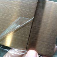 拉丝玫瑰金不锈钢板,彩色不锈钢折板加工,304冷轧不锈钢板