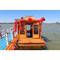 木船厂家出售山东潍坊淄博8米观光画舫船电动客船