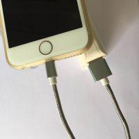 Iphone5/6高品质合金苹果二合一数据线,Micro安卓一拖二充电线
