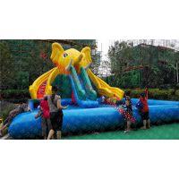 重庆出租大象滑梯配60以上尺寸充气水池出租大象滑梯水上器材