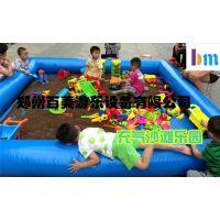 山西吕梁儿童沙池价格,彩色充气沙滩池游乐设备生产厂家
