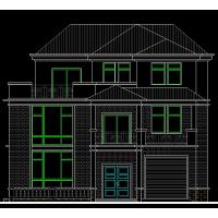 欧式豪华双拼别墅设计图14x15.4米
