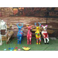 原著厂家制作玻璃钢梅花鹿等卡通动漫雕塑 儿童游乐园雕塑 公园工艺品