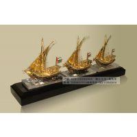 阿拉伯商船模型工艺品,金属帆船模型摆件,广州金属帆船模型工艺品,银行年会答谢客户礼品,金属帆船模型摆